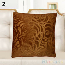 Floral Throw Pillow Case Square Cushion Cover Shell Car Home Decor Pure Color