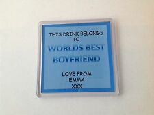 Personalised Coasters for any relation boyfriend Ideal christmas gift/Birthday