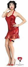 30's Betty Boop Classic Red Sequin Sexy Dress Adult Womens Halloween Costume