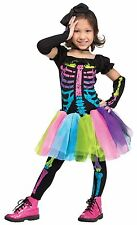 Funky Punk Bones Colorful Skeleton Tutu Dress Girls Toddler Halloween Costume