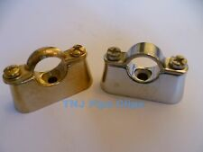 Brass Hospital Bracket - Various Sizes, Brass or Chrome Plated - Pipe Clips