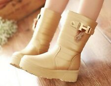 CooLcept women fashion wedge lady sexy ankle half boots winter shoes P14771