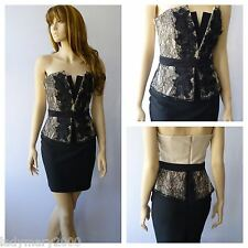 BNWT Lipsy Bandeau Party Evening Wedding Dress with Lace Corset