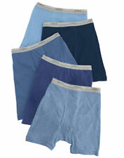 Hanes Boys Gentle Exposed Waistband 100% Cotton Boxer Briefs, 5-Pack. B749B5