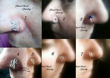HandMade Wire Nose Ear Ring Body Jewelry  No piercing required fake nose ring