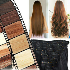 USA Beauty Lady 8 Piece Full Head Clip In Hair Extensions Xmas Sale Real Quality