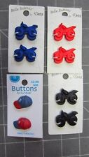 BUTTONS: MOTORCYCLES-RED,BLACK,BLUE OR BASEBALL HATS