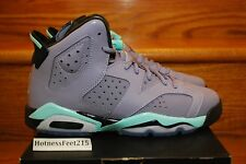 Nike Air Jordan 6 Retro GS Iron Purple/Bleached Turquoise 543390-508 SZ:4y-7y