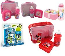 Official Character Childrens Kids School Soft Insulated Lunch Bag Box bottle New
