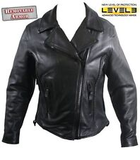 Women's Level-3 Armored Leather Motorcycle  Jacket