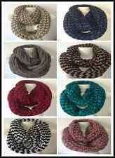 INFINITY LOOP STYLE SCARF KNITTED PATTERN PRINT