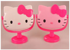 White Pink Hello Kitty Stand Make-up Cosmetic Table Mirror Bathroom 2 colours