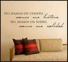 No seamos un cuento seamos una historia spanish vinyl wall decal quote sticker