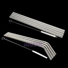 New 5IN1 Stainless Steel Drinking Cocktail Beverage Straws with Brush Set  NI5L
