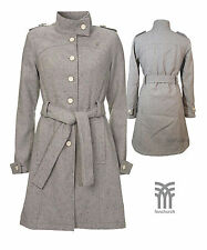 Womens Fenchurch Robyn Jacket Coat Grey Tweed Wool Mix Ladies Girls Size 6 - 14