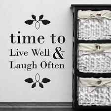 Live And Laugh Quote, House Welcome, Warming, Wall Sticker Decal, Ss2288