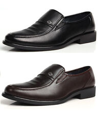 Men's Business Formal Dress Shoes Slip-On Loafers Leather Shoes Free Shipping