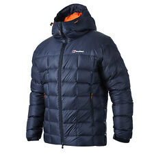 Berghaus Popena Hooded Mens Down Jacket Blue Jackets Eclipse All Sizes