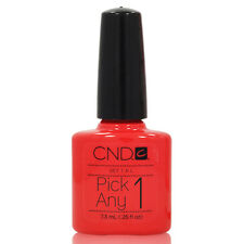 COLORS A-L CND Shellac UV Gel Creative Nail Polish .25 oz Soak Off Coat SET 1