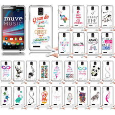 For ZTE Engage LT MT N8000 Case Flexible TPU Soft Skin Cover Birds of a feather