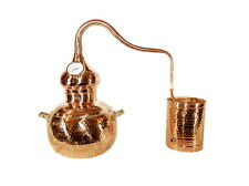 Alembic Copper Still,Alcohol Distiller With Thermometer ,Hydrosols, Floral Water