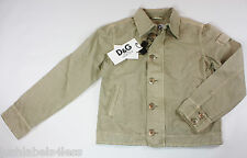 NEW DOLCE & GABBANA JUNIOR Boys Beige Brown Jacket  (rrp £150+) Age 10 or 13