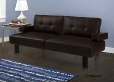 Modern Sofa Bed Couch Futon Convertible Sleeper Living Room Furniture Leather