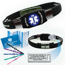 Elite™ Medical Alert ID Bracelet, Engraved with your Medical Condition