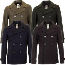 Mens Rhino Wool Blend Buttoned Front Casual Reefer Jacket AE508 In 4 Colours