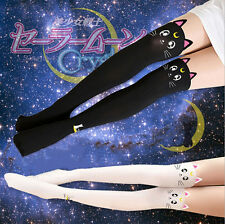 Anime Sailor Moon Cosplay 20th Anniversary Cat Pattern Pantyhose Tights Leggings