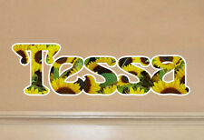 Sunflower Name Personalized Vinyl Wall Art Decal Decor kids bed room removable