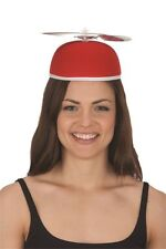 Felt Beanie Copter Helicopter Propeller Hat Cap Costume Accessory Red Blue Green