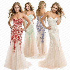 2014 New Lace & Tulle Long Mermaid Cocktail Evening Formal Prom Dress Party Gown