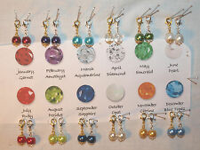 NEW COLORS! 8 mm DANGLE CHARMS for Living,Floating Lockets! Birthstone Colors!!!