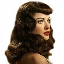 ROCKABILLY CURLED BETTIE CLIP IN ON FRINGE BANGS HUMAN HAIR *10 COLOURS* PAGE