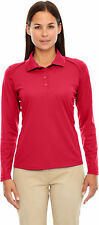 Extreme Women's 100% Polyester Performance Long Sleeves Polo Shirt. 75111