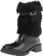 DKNY WOMENS BOOTS CALGARY COLD WEATHER ACTIVE SHOES FAUX FUR RUBBER 9.5 10 NEW