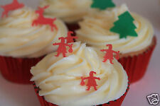 edible small father christmas, pre-cut santa cake decorations any 4th set free