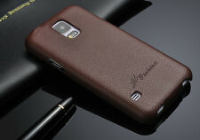 REAL GENUINE LEATHER PREMIUM FLIP CASE COVER FOR SAMSUNG GALAXY S5 i9600 i9605