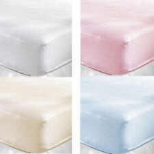 Terry Towelling Fitted Sheet Cot Bed / Junior / Toddler Bed Mattress 140 x 70cm