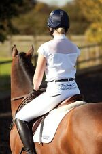 NEW WITH TAG LACIE COMPETITION SHOW SHIRT WHITE WITH RHINESTONES SIZE 10,12,14