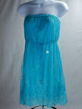 NEW Aeropostale Summer  Aqua Blue Lace  Strapless Casual Dress Aéropostale
