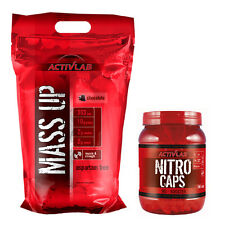 Mass Up 3,5kg + Nitro Caps 240 Capsules Weight Gainer + Nitric Oxide NO Booster