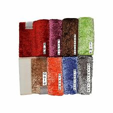 Non-Skid Absorbent and Super Soft Shaggy Microfiber Chenille Bath Area Mat/Rug