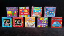 Mini library set of 6 classic fun to learn nursery rymes abc numbers kids book