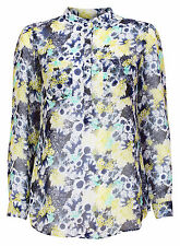 New Ex Next Long Sleeve Floral Print Button Front Shirt Blouse Size 8-18