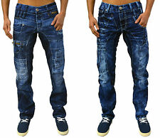 Mens Kosmo Lupo Jeans Designer Tapered Fit Fashion Italian Style Party Denim