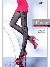 Fiore Ermina womens patterned tights semi-opaque 40 Denier, sheer to waist SALE