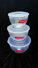 plastic steamer round food container with lid storage 1.1- 3.2 litre beaufort