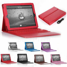 For Apple iPad 2 3 4 Air Bluetooth Wireless Keyboard Stand Leather Case Cover